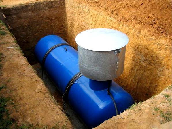 Газовый резервуар в еще открытом котловане. Фото с сайта www.oborudunion.ru
