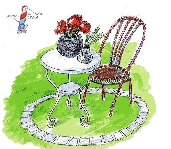Пестрый декор, полученный в результате «художественного колдовства», напоминает пэчворк и выглядит очень оригинально.