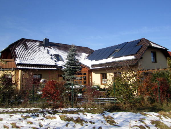 Солнечные панели на этой крыше способны обеспечить 1 кВт электроэнергии