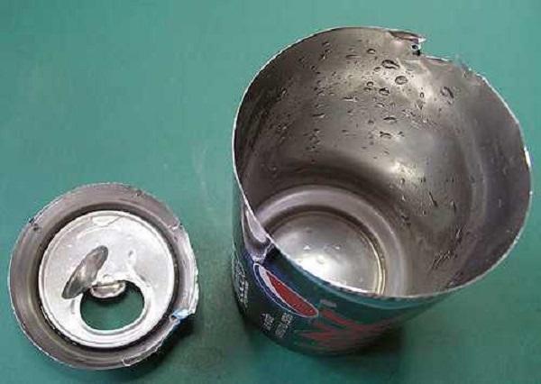 Бирка-колышек из алюминиевой банки