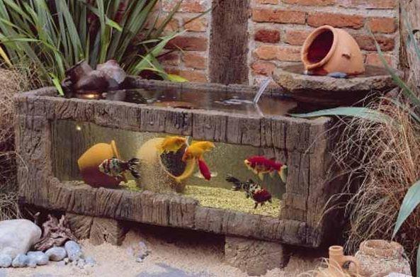 Садовый аквариум. Фото с сайта http://www.littlepieceofme.com