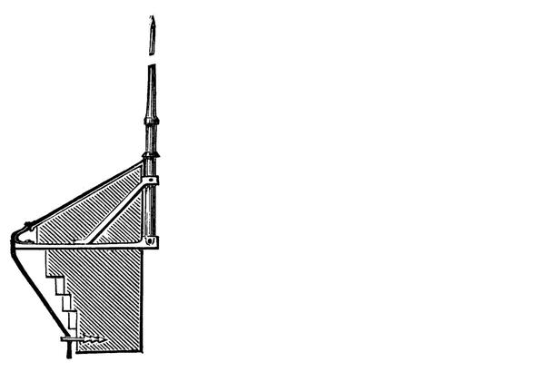 Схема установки молниеприемника