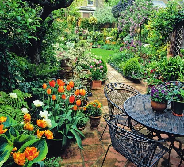 Групповые посадки луковичных помогут разбросать по саду яркие пятна.