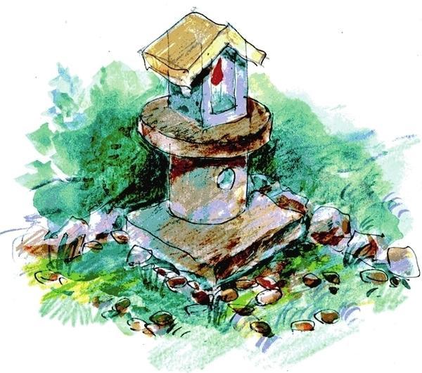 Сад мхов - очень креативный и оригинальный вариант садовой композиции.