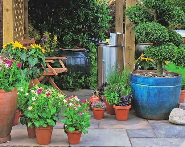 Если вы холерик, главное для вас - мобильность всех элементов садового декора.