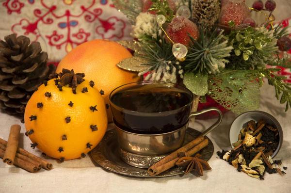 Пряный новогодний чай. Фото: LadyBird