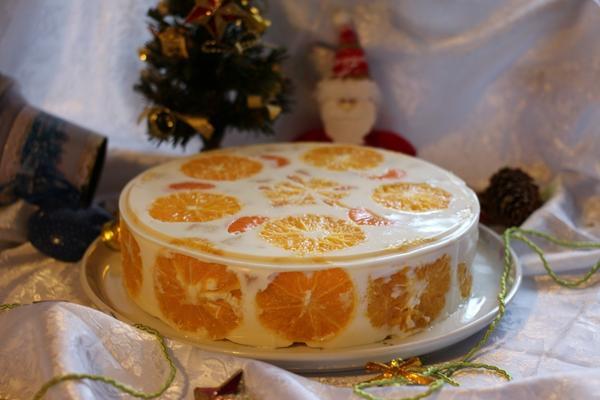 Желейный торт Фруктовый Новый год. Фото: Alnailmi