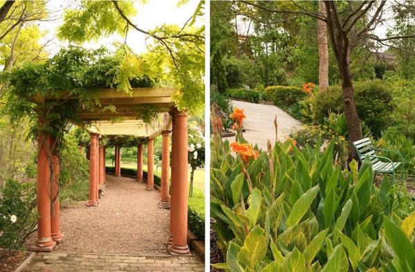Слева: обрамление проходов. Справа: многослойность пространства. Фото с сайта gardendrum.com
