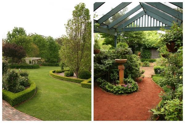 Окружающей нас в саду зелени обязательно нужен контрастный материал. Фото с сайта gardendrum.com