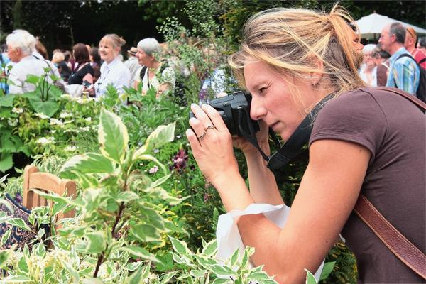 Почти все гости приходят на выставки с камерами или смартфонами