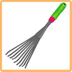Грабельки LISTOK веерные малые 38,5х11,5 см с резиновой ручкой