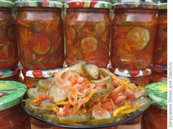 Венгерские овощные салаты на зиму