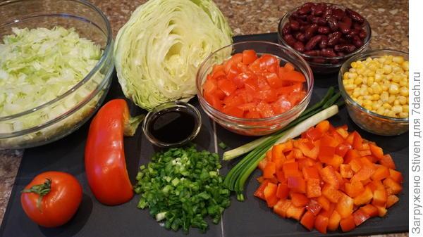 Нарезка для салата