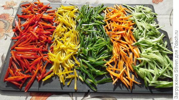 Нашинкованные овощи