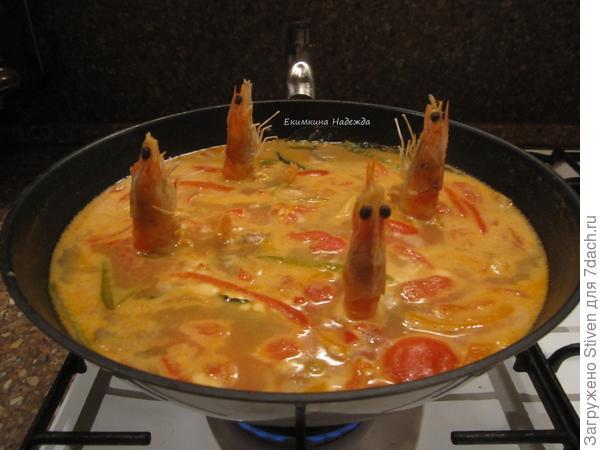 Суп Том Ям с креветками ...