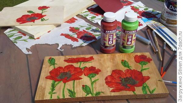 Колеровочные краски - яркий цвет рисунка