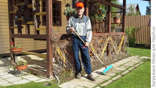Уборка садовых дорожек