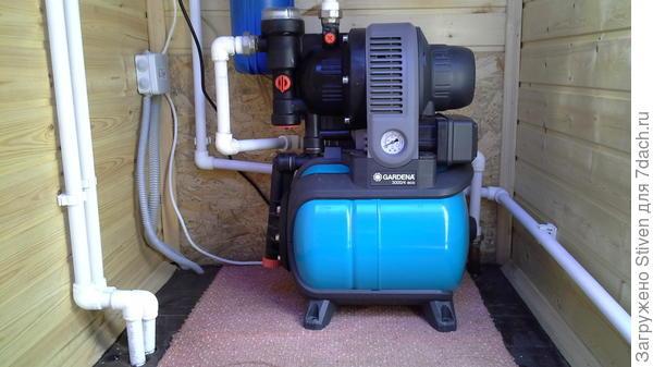Разводка подачи воды и электричества