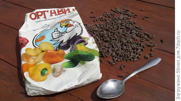 Пакет гранулированного куриного помета