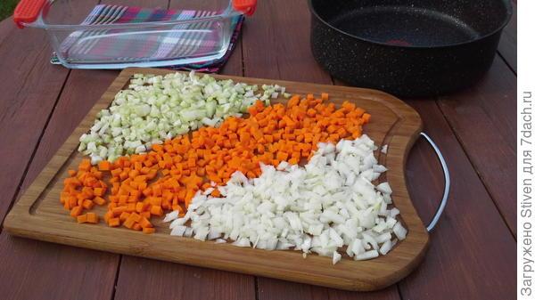 Овощи порезать