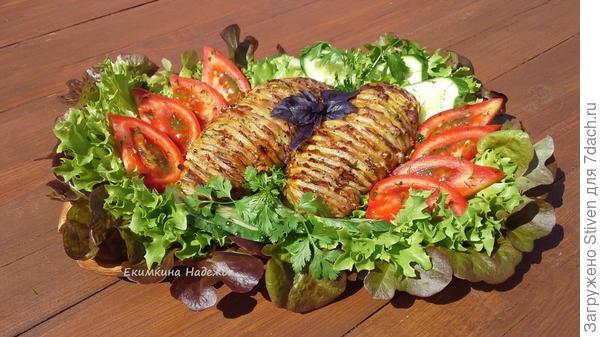 Картошка - гармошка с беконом