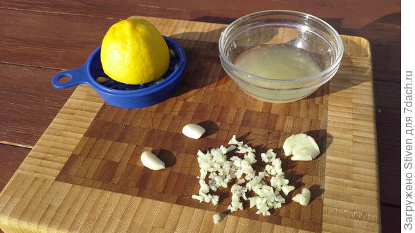 Сок лимона и чеснок