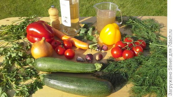 Ингредиенты для тушения овощей