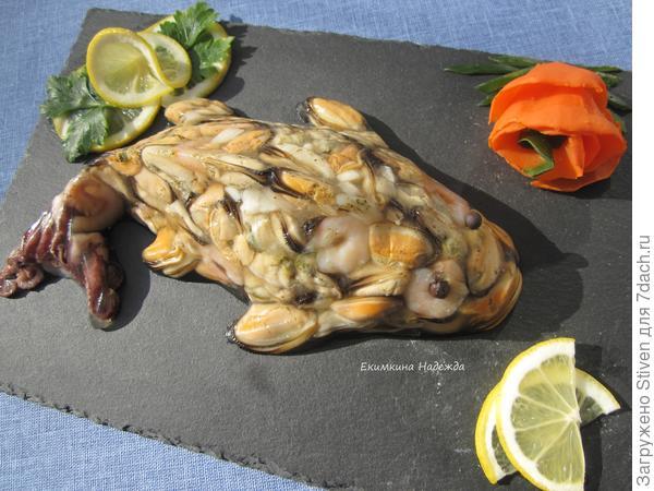 Заливная рыбка из морепродуктов