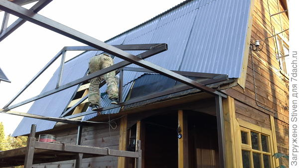 Вырезание крыши