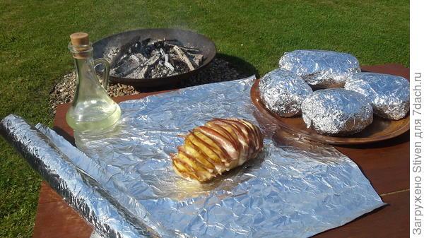 Картошка с салом на углях по-русски с Русским кетчупом - Махеевъ