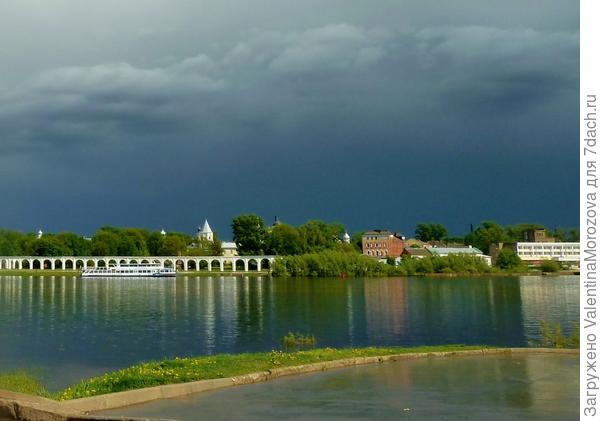 Вид с реки Волхов