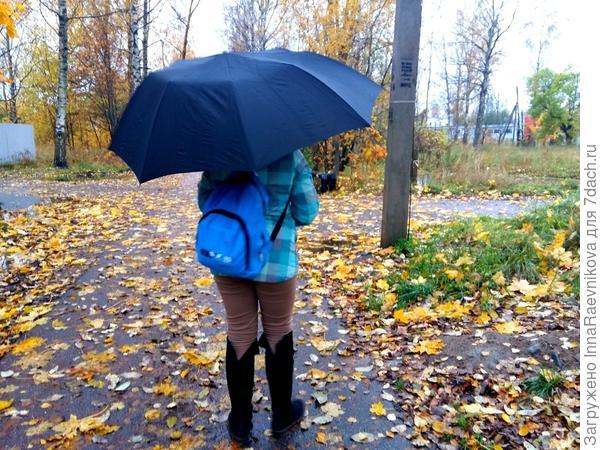 Кто-то с зонтиком идет