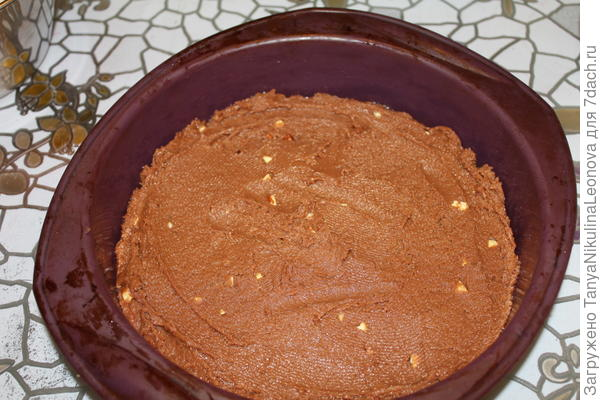 первый шоколадный слой