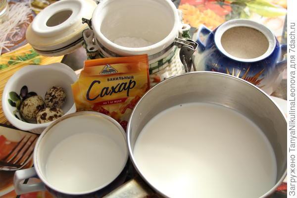 для крема продукты