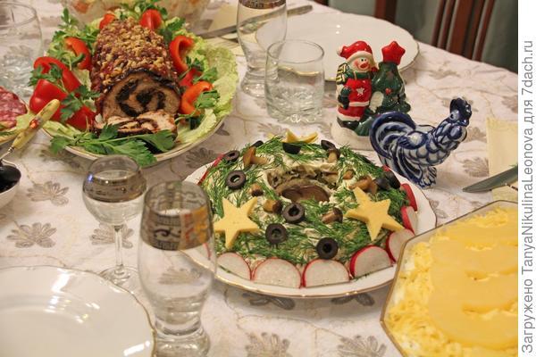 салат на праздничном столе
