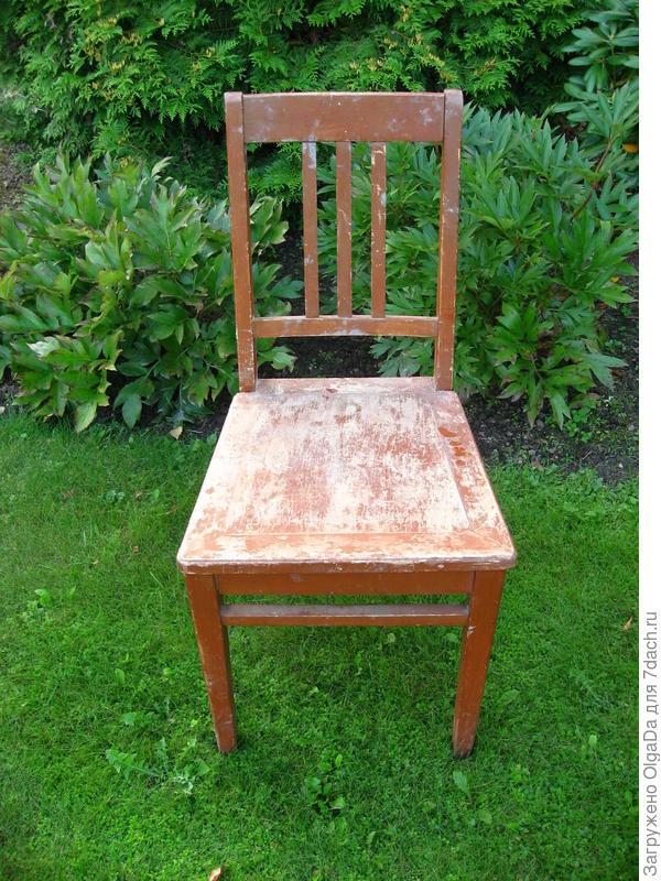 стул до реставрации
