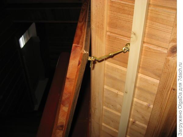 крепление дверцы люка к стене