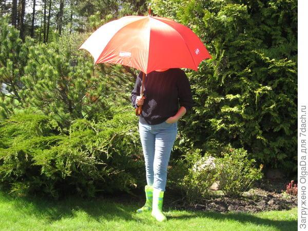 Оля под зонтом «от Viessmann»
