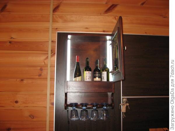 Подсветка винной полки