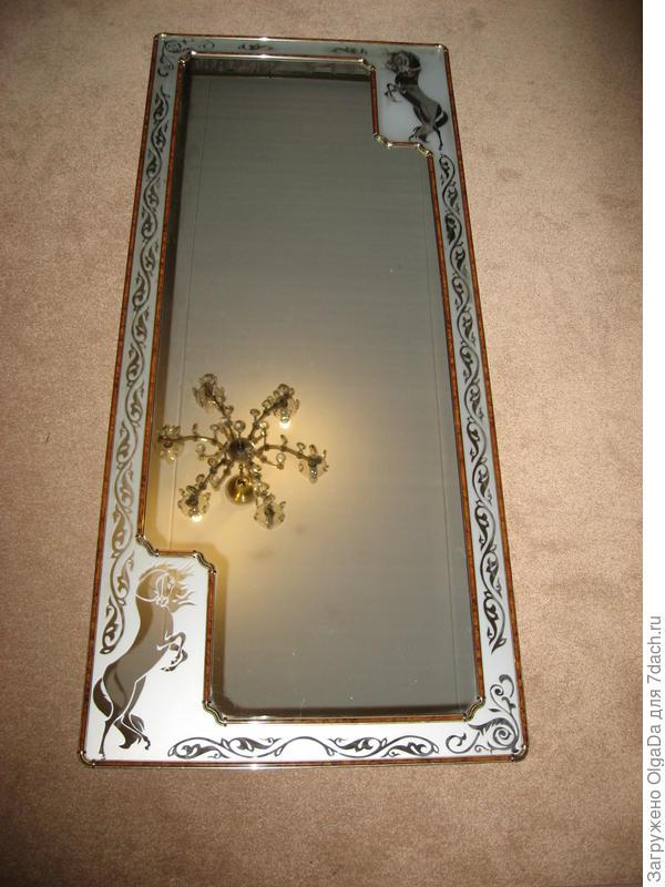 Такое зеркало можно сделать с помощью матирующей пасты.
