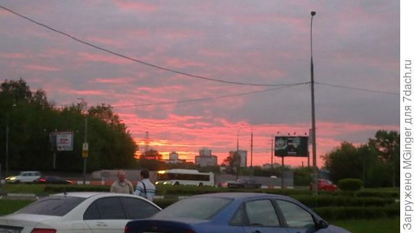 городской закат...