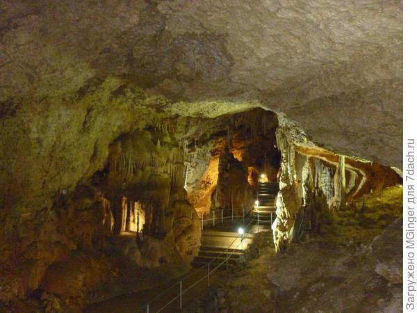 переходы в Мраморной пещере