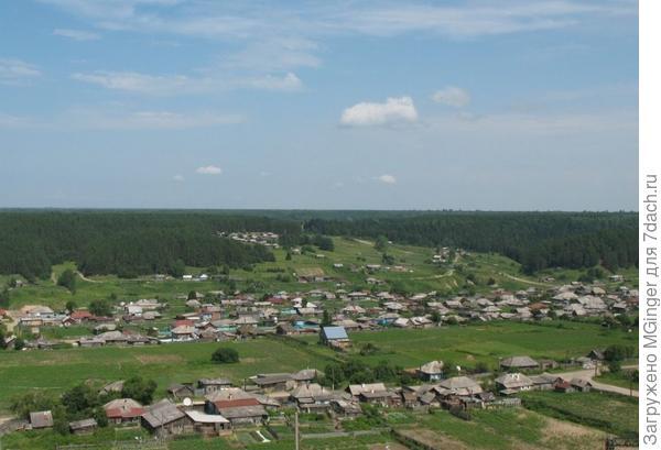 Наше село (вид с холма)