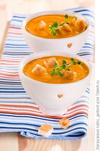 Холодный суп-пюре из моркови