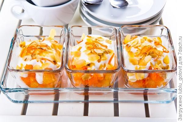 Десерт из моркови с апельсином