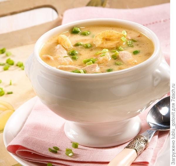 Куриный суп с бананами