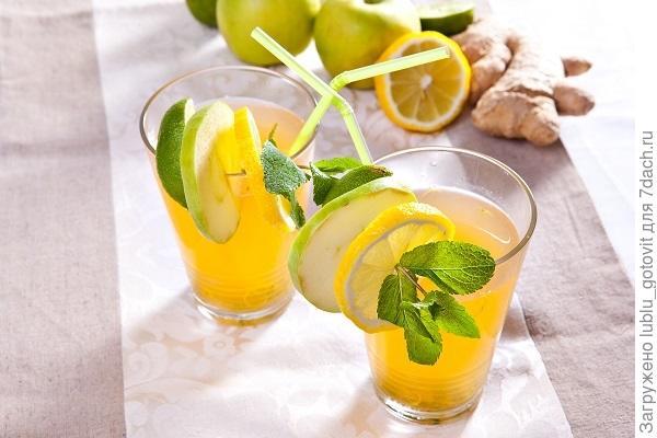 Яблочно-имбирный напиток