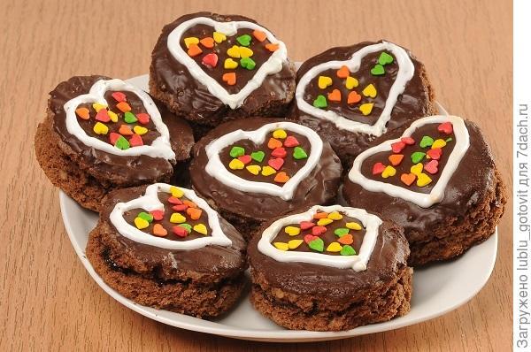 """Печенье """"Шоколадные амурчики"""""""