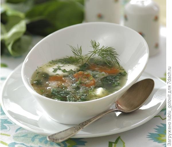 Весенний суп со шпинатом