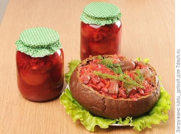 Салат в помидорах «Утро в Германии»